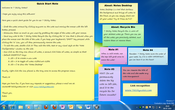 7 Sticky Notes- Notes Application for Windows 7