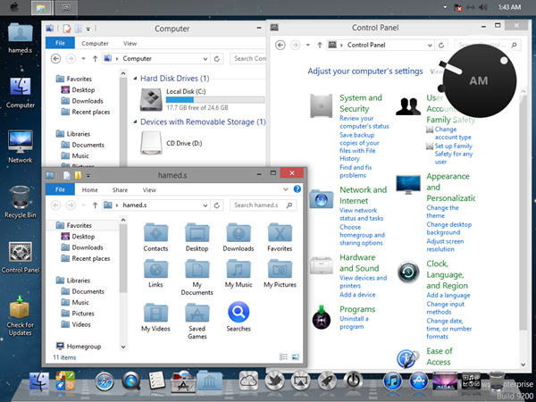 Mountain Lion Transformation Pack for Windows 8