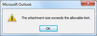 Attachment size outlook 2010