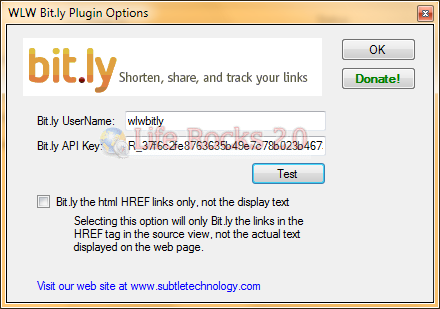 Convert your Windows Live Writer Links to Bit ly