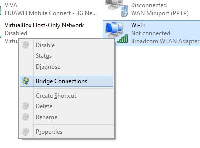 Bridge connection