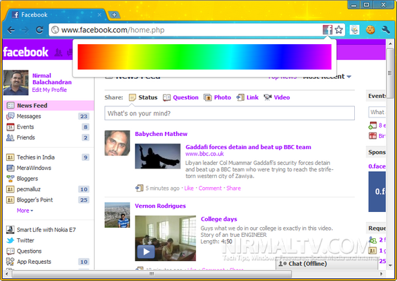 Change Facebook Colors (Themes)