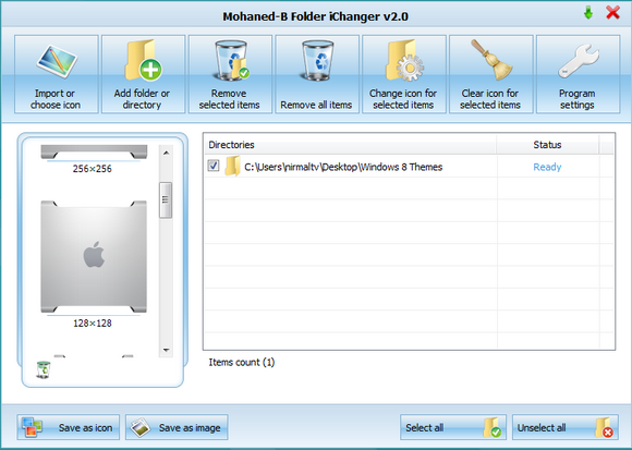 Change folder icons in Windows 8