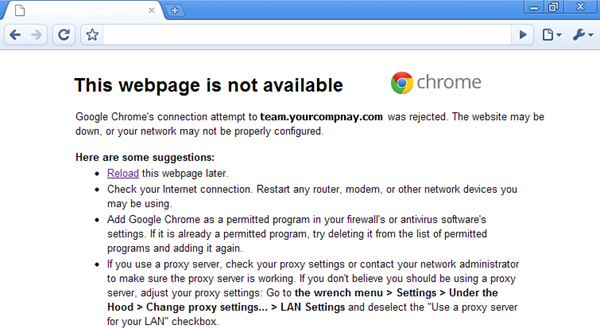 Chrome webpage note available