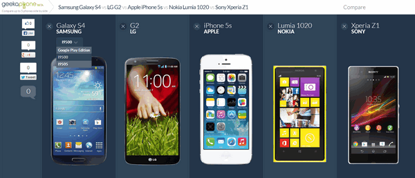 Compare Phones Side By Side >> Compare Smartphones Side By Side With Geekaphone