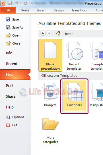 How To Create A Customized Calendar With Powerpoint 2010