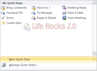 Create new Quick Step