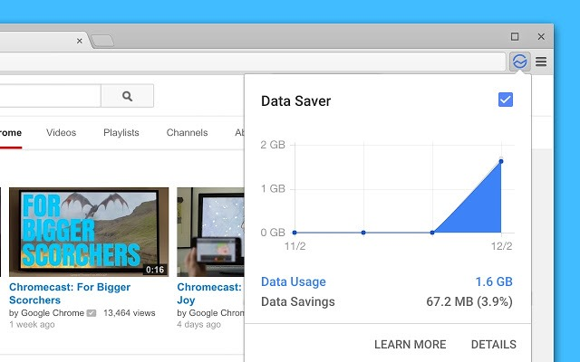 Data saver chrome
