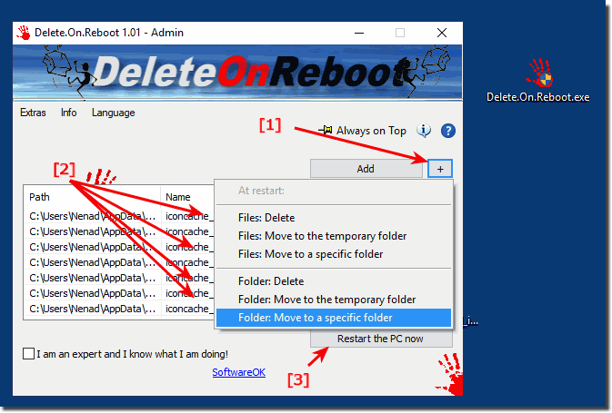 Delete Non-Erasable Files