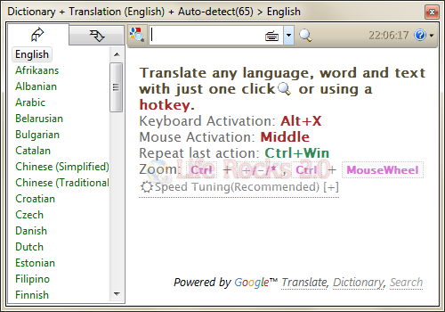 Desktop Translation Tool Dictionary Net