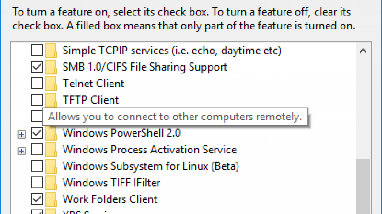 How to Enable TFTP and Telnet Client in Windows 10