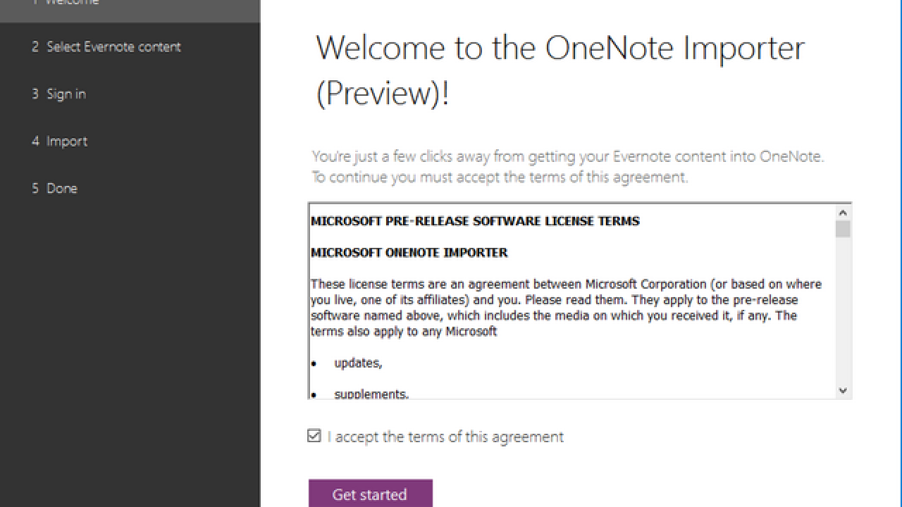 Import Notes from Evernote to OneNote