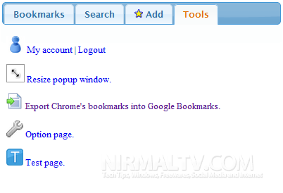Google Bookmarks Extension for Chrome
