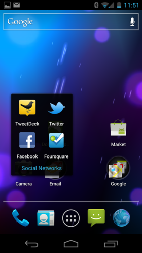 Folders on Home screen