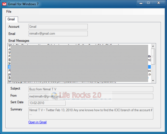Gmail for Windows 7