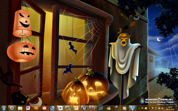 Halloween theme Windows 7