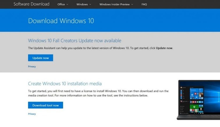 Install Windows 10 Fall creators update1