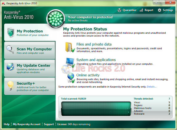 FREE Download Kaspersky Anti Virus 2010, One year FREE License Key