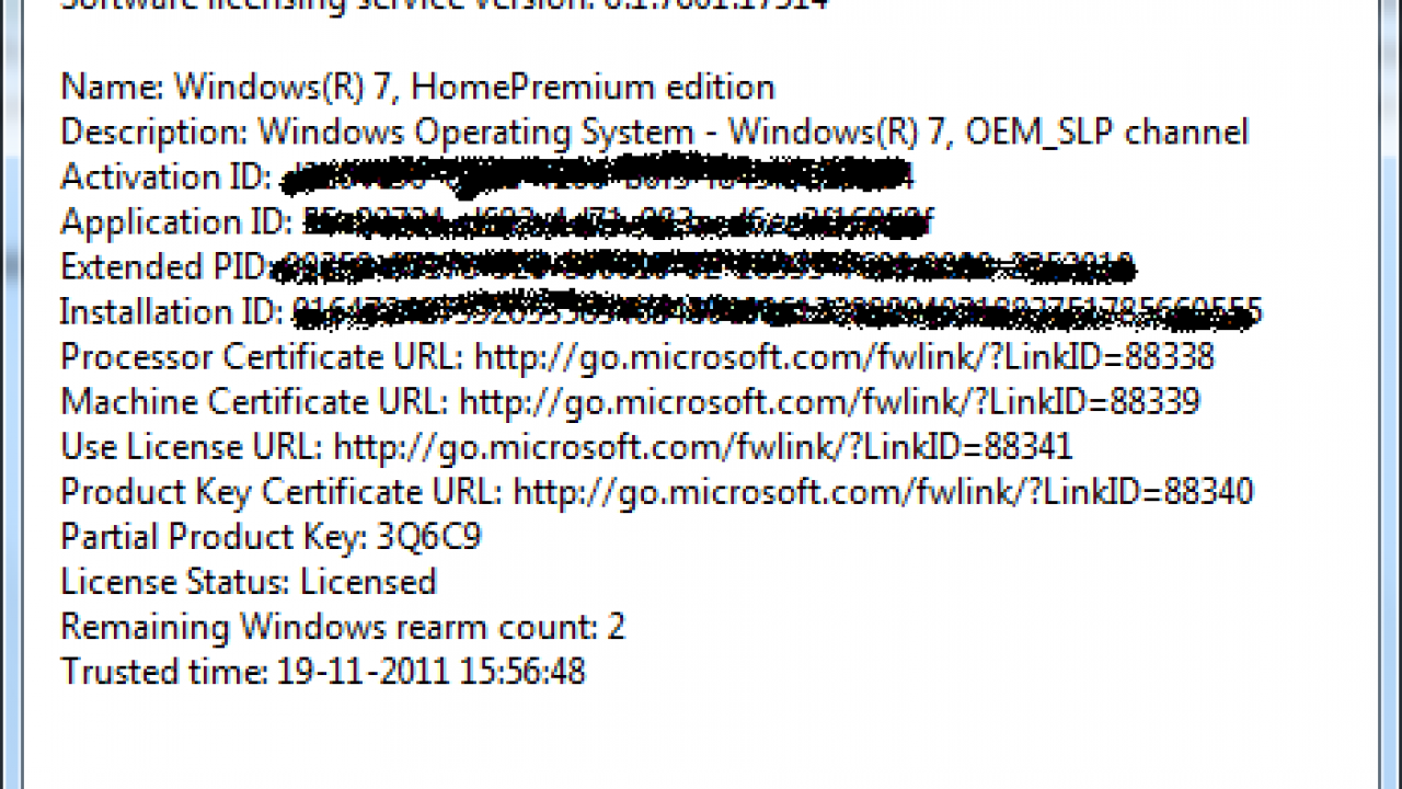 How to Find Windows 7 Licensing Information and Rearm Count