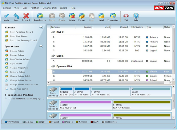 Free Partition Manager for Windows 8 / Windows 7