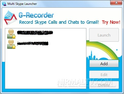Multiple Skype added
