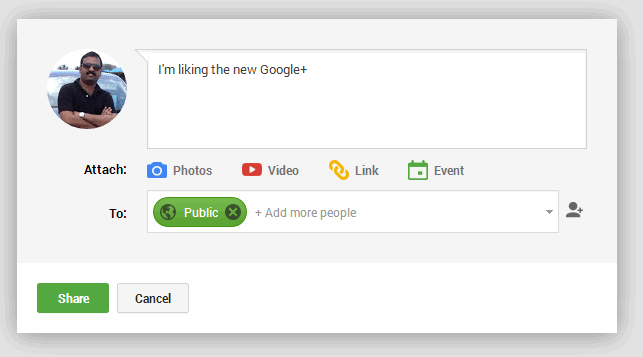 New Google  status update