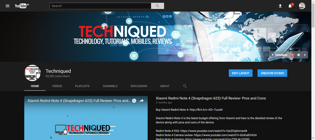 New youtube layout