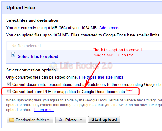 Convert PDF and Image to Text (OCR) using Google Doc