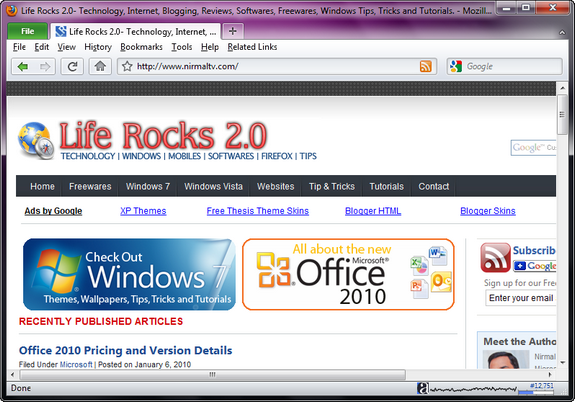 Office 2010 Theme for Firefox