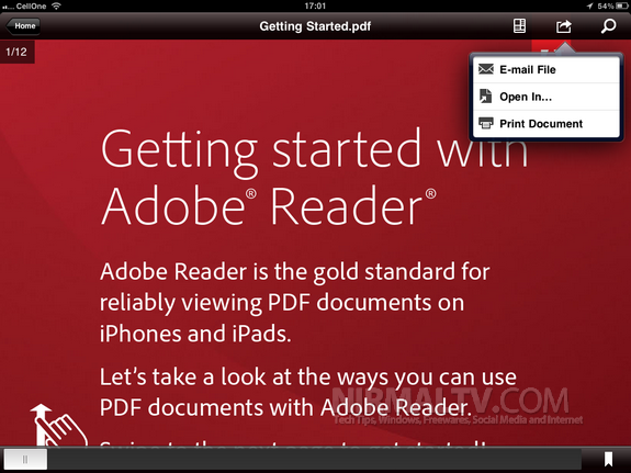 Adobe PDF Reader for iPhone and iPad