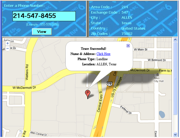 Find Location Of Phone Number On Map >> Trace The Geographical Location Of Phone Number Us And Canada