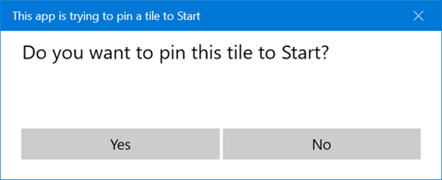 Pin tile start menu