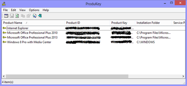 microsoft office 2013 product key recovery