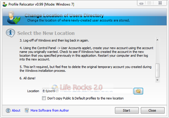 default user profile how to change initial default ie