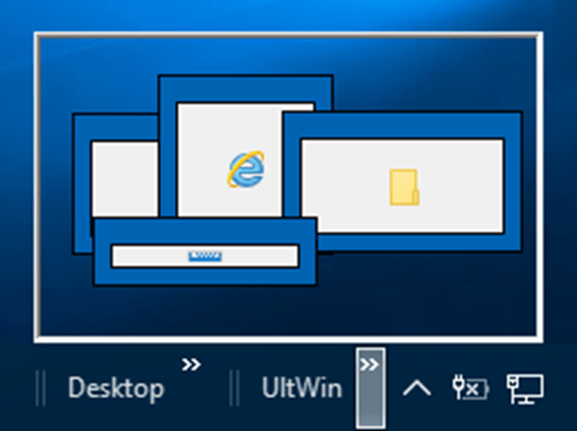 Interactive View of Windows Desktop