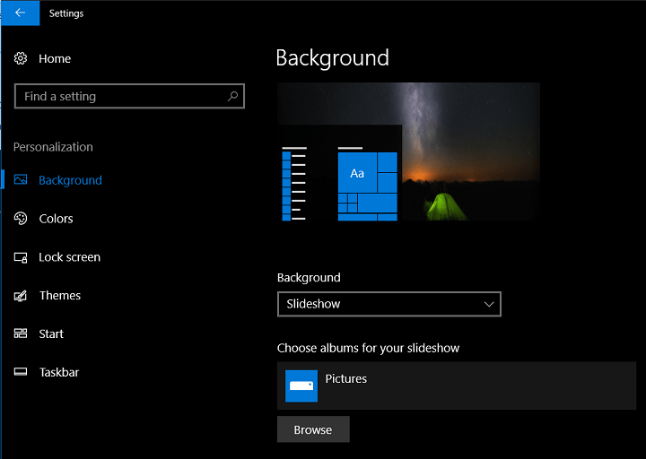 How To Set Slideshow As Wallpaper On Windows 10