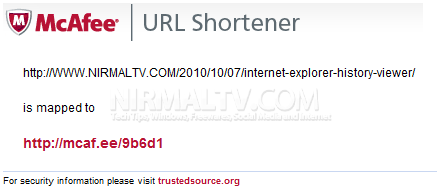 Shortened URL