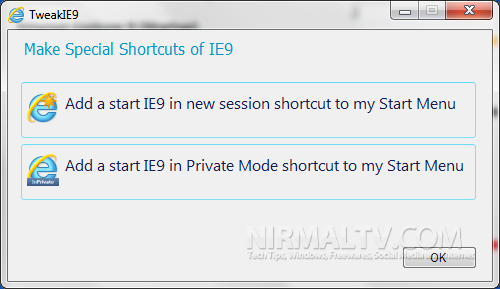 Special shortcuts