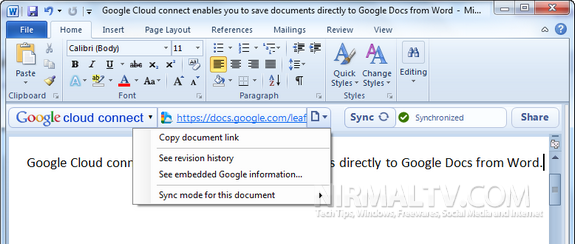 Sync Documents