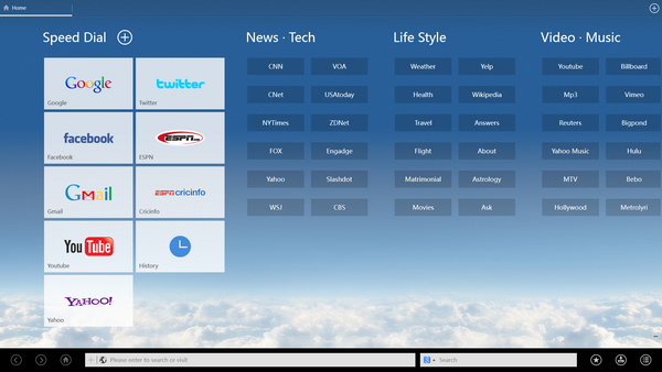 UC Browser for Windows 8/ RT