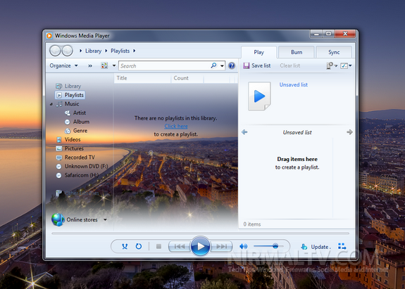 How to Change Windows Media Player 12 Library Background