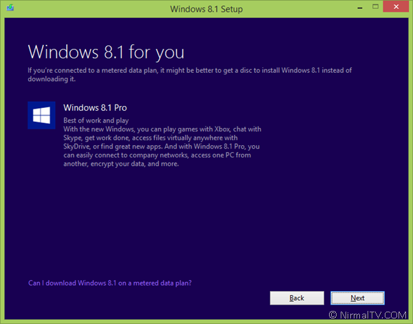 Windows 8.1 upgrade