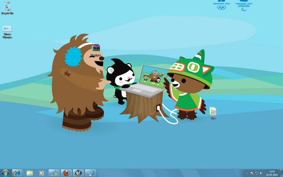 Winter Olympics Theme windows 7