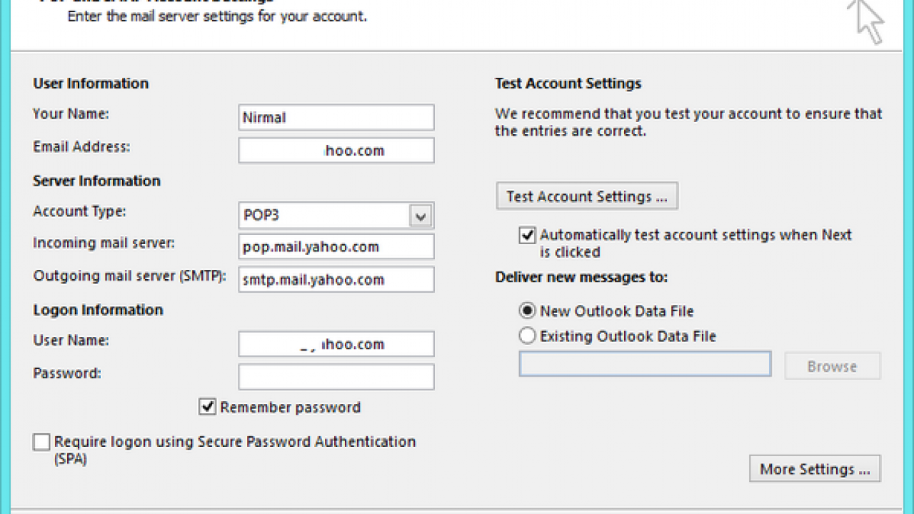 How to Configure POP3 or IMAP for Yahoo! Mail