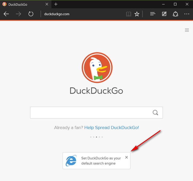 default search in Edge
