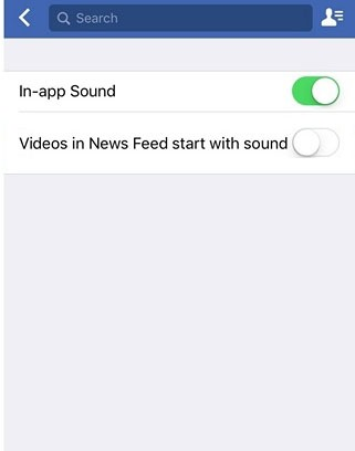 disable facebook video sound auto play