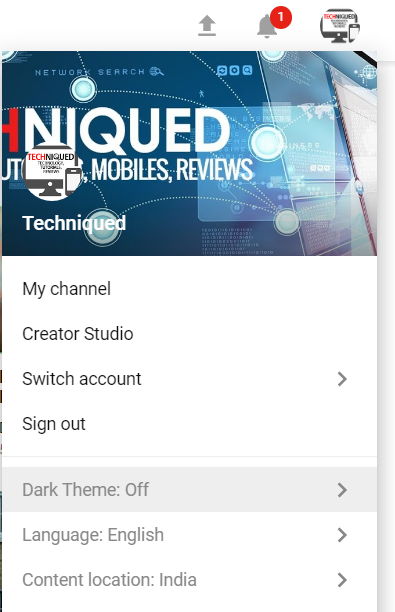 enable dark mode youtube
