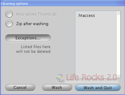 exceptions window