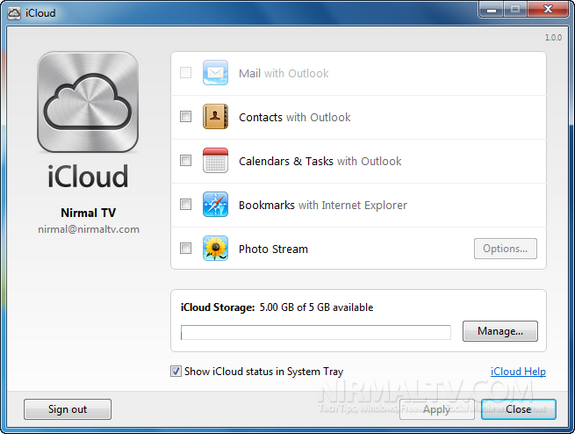 iCloud on Windows