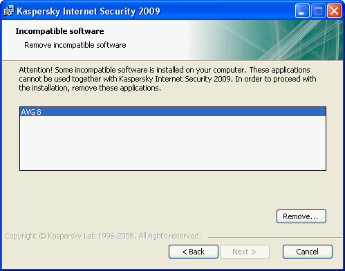 Kaspersky-Incompatible-Software-Installation